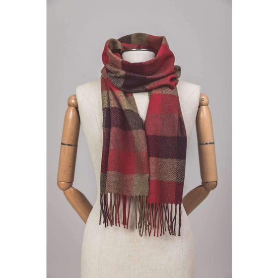 Foxford Scarf Country Block Check