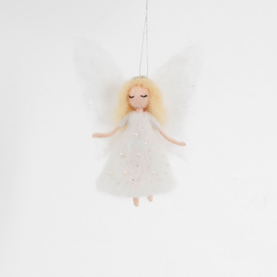 Felt Angel Sparkle Dress Hanging Decoration
