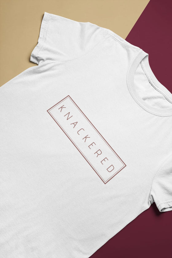 Knackered - Adult Unisex - T-Shirt - White
