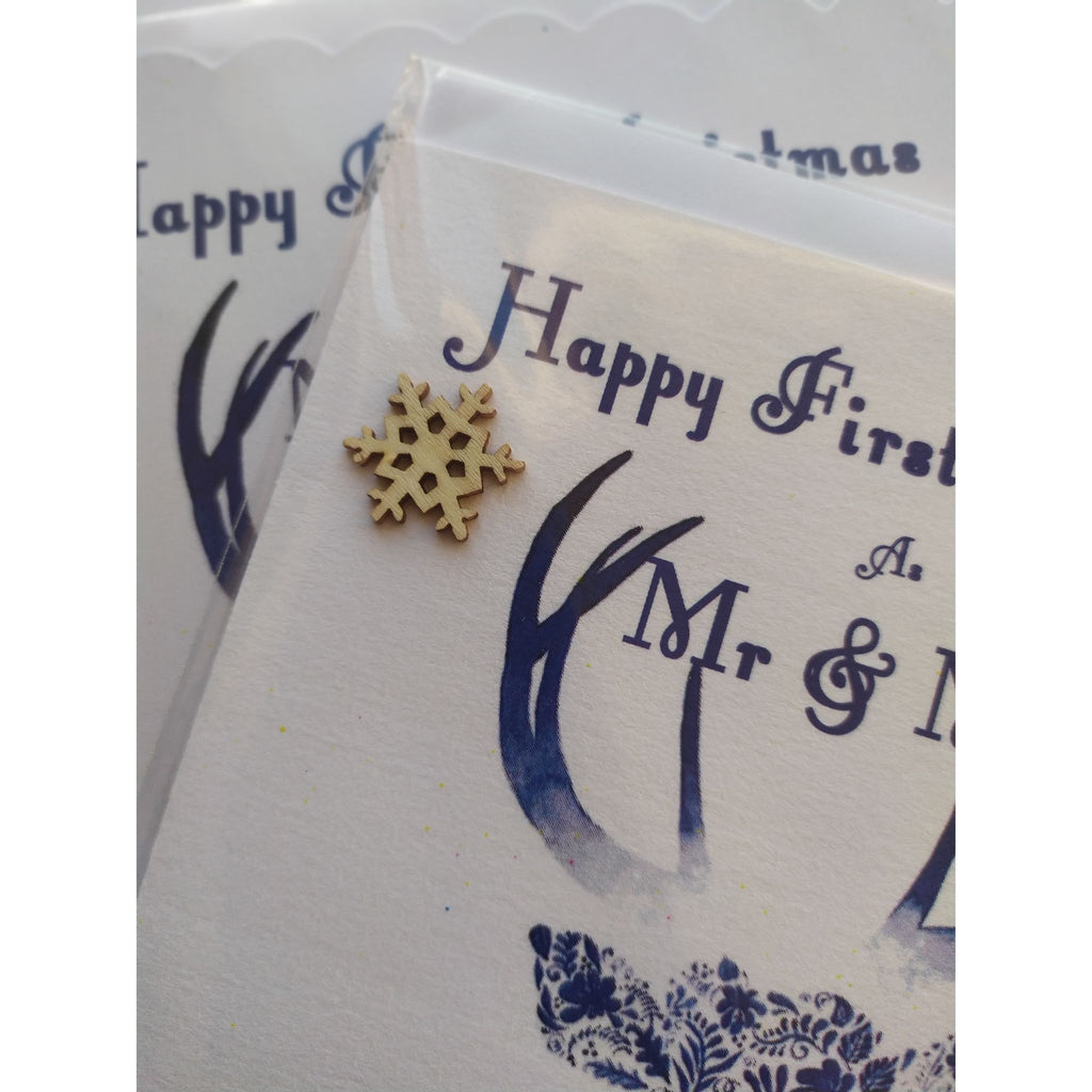 Happy first Christmas as Mr & Mrs card