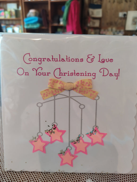 Congratulations and love christening card