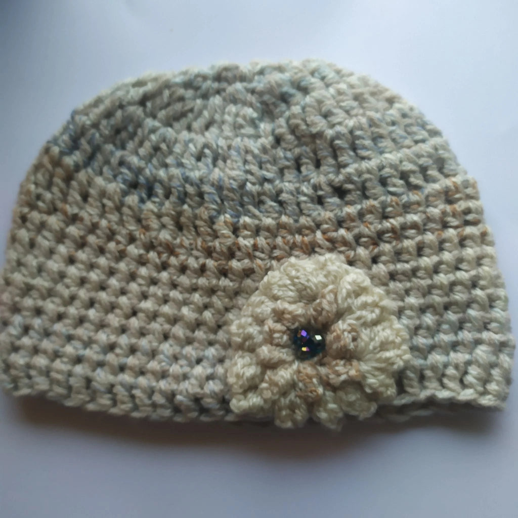 Ivory and sand multi hat - S/M