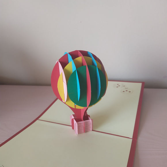 Lá Breithe Shona & Happy Birthday - Balloon Pop Up Card