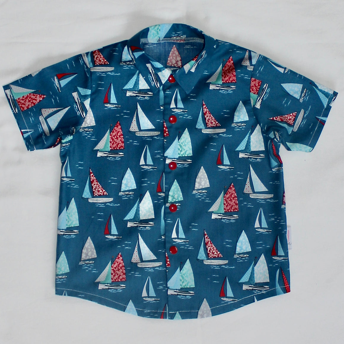 Shirt - Blue with Sail Boats