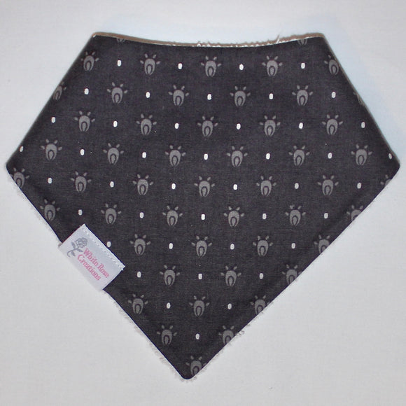 Bib - Dark Grey with Light Grey Shapes