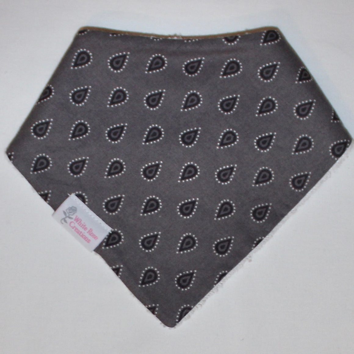 Bib - Grey with Dark Grey Drops