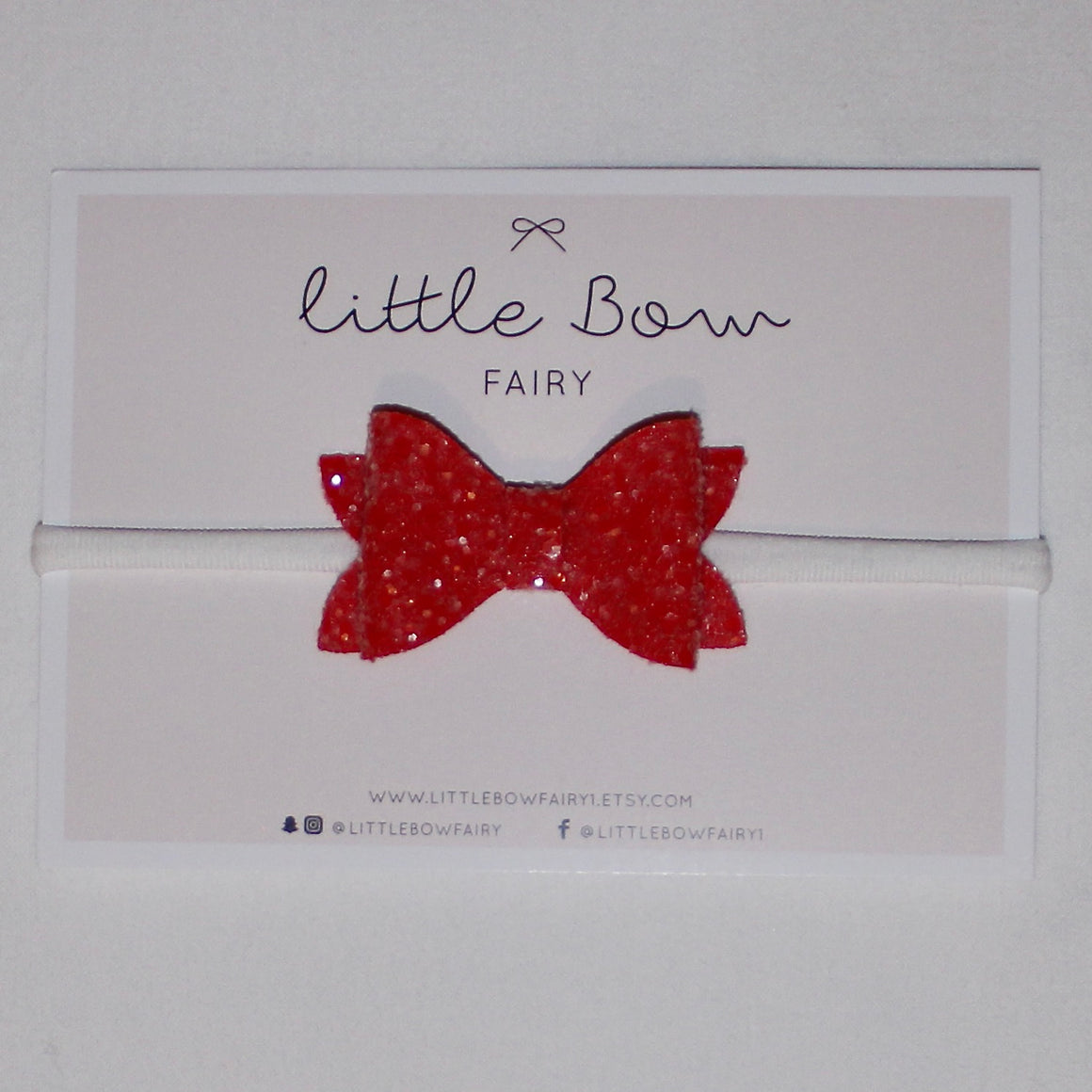 Dark Pink Sparkle Bow Headband