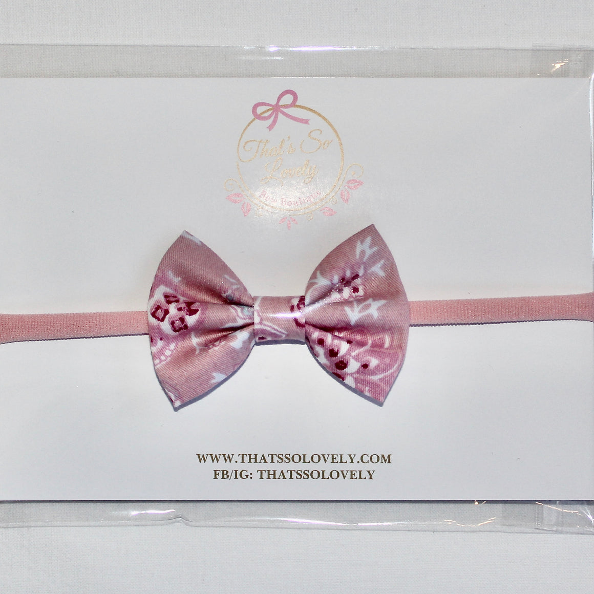 Pink Flight Bow Headband