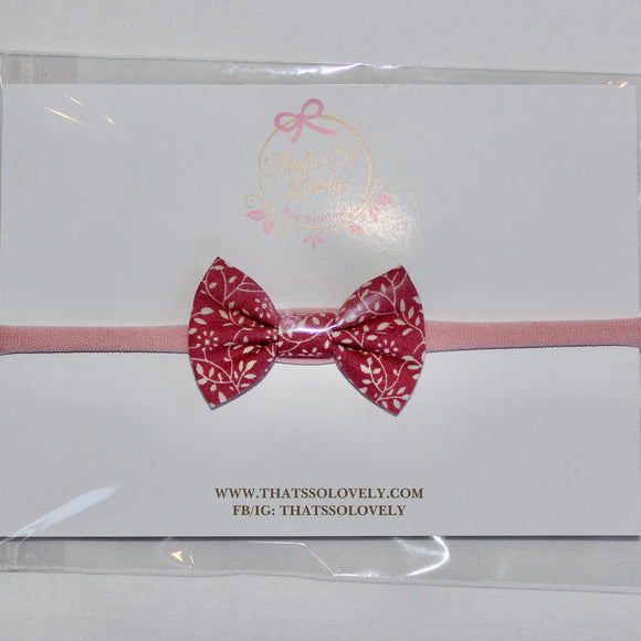 Oh So Rosie Bow Headband