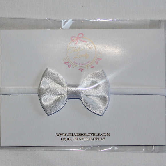 White Occasion Bow Headband