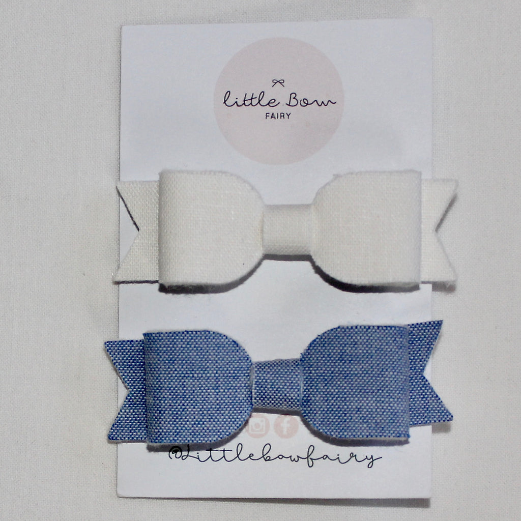Pig Tail Bow Set Clips
