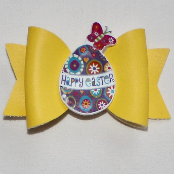 Yellow Bow with Easter Egg & Butterfly Centrepiece