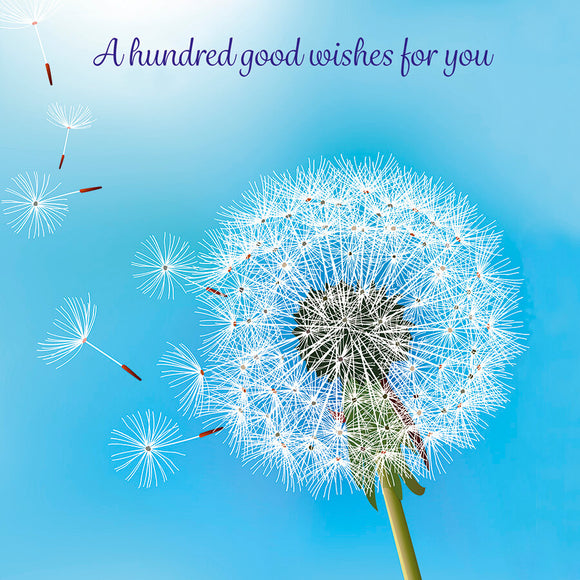 A hundred good wishes for you!