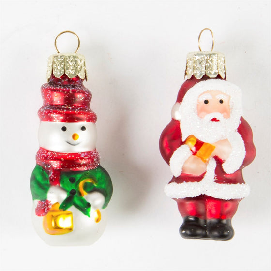 Mini Santa & Snowmen Decorations