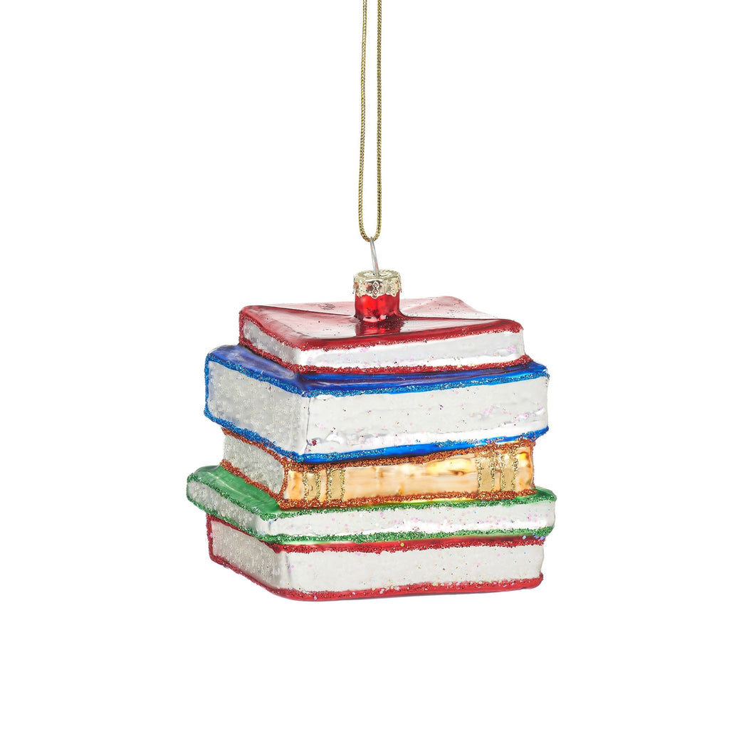 Stack of Books Shaped Bauble