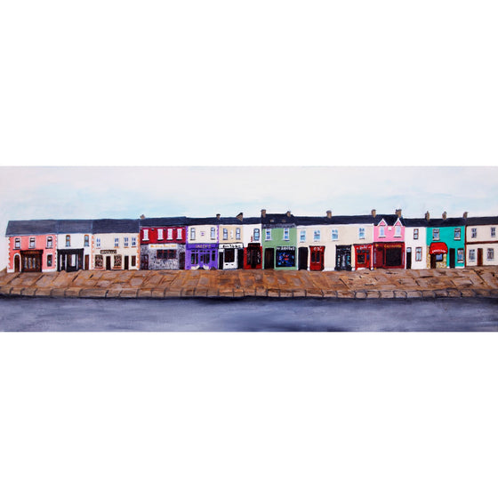 Belmullet Main Street 2 - (18X6)in canvas print by Jean Beard