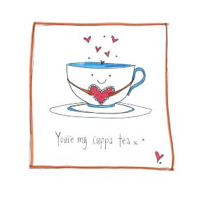 Your My Cuppa Tea Hand Finished Card