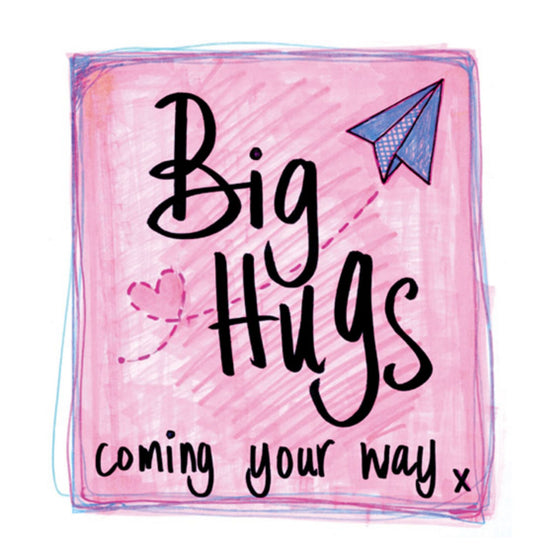 Big Hugs Hand Finished Card