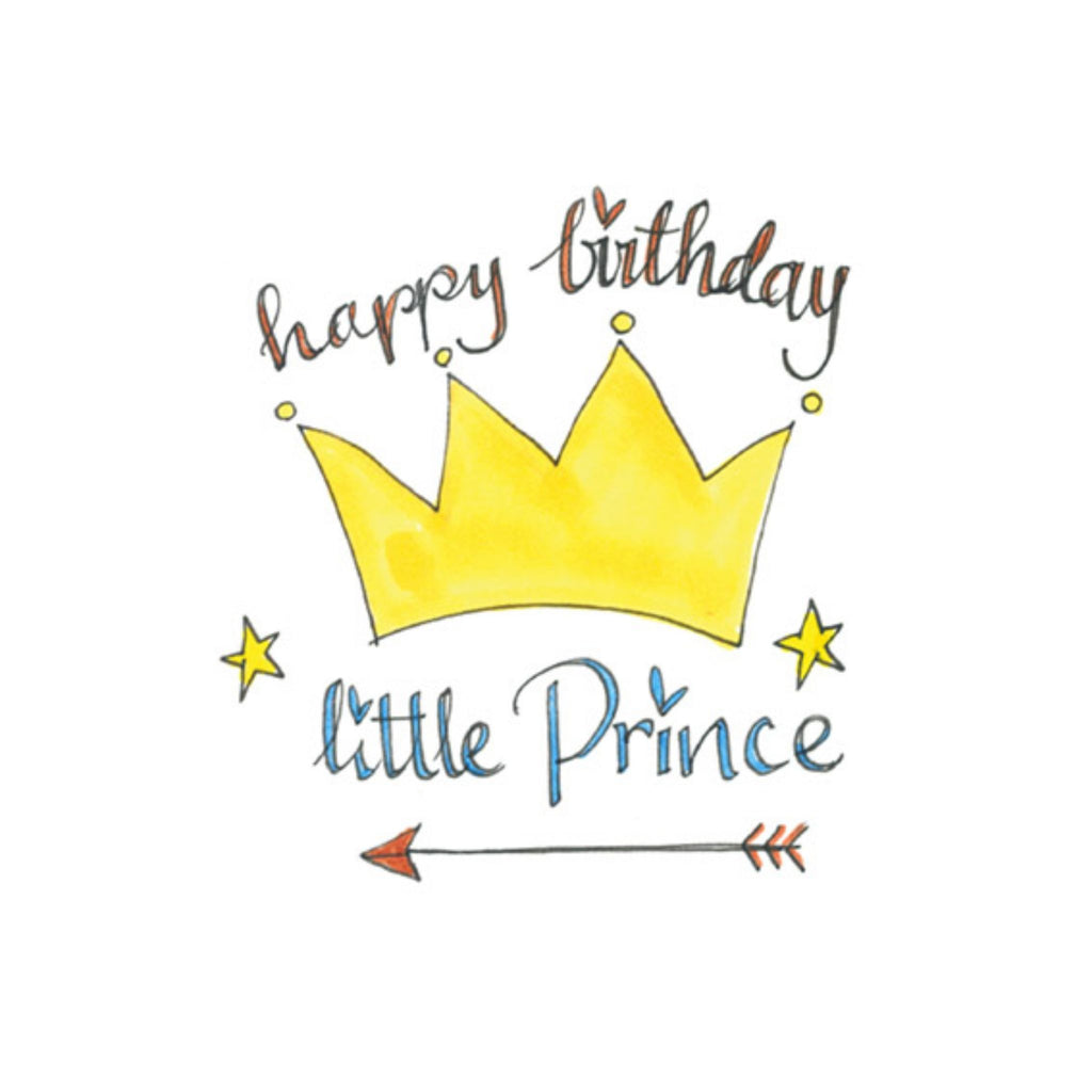 Birthday Prince Hand Finished Card