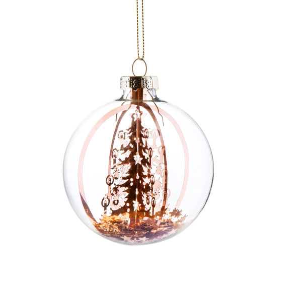 Candlelit Tree Star Storm Bauble