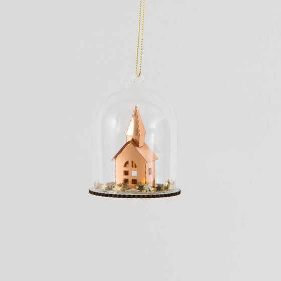 Copper Stars Church Steeple Dome Bauble