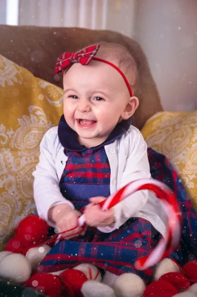 Red Tartan Bow Headband