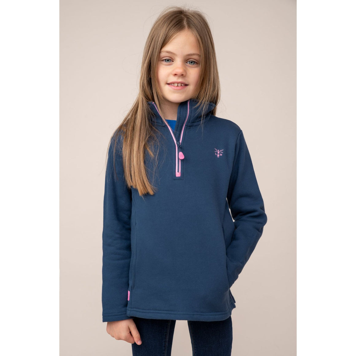 Robyn Girls Sweater Top Navy
