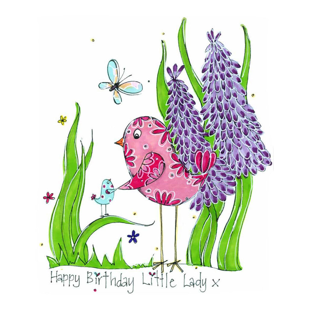 Happy Birthday Little Lady Hand Finished Card