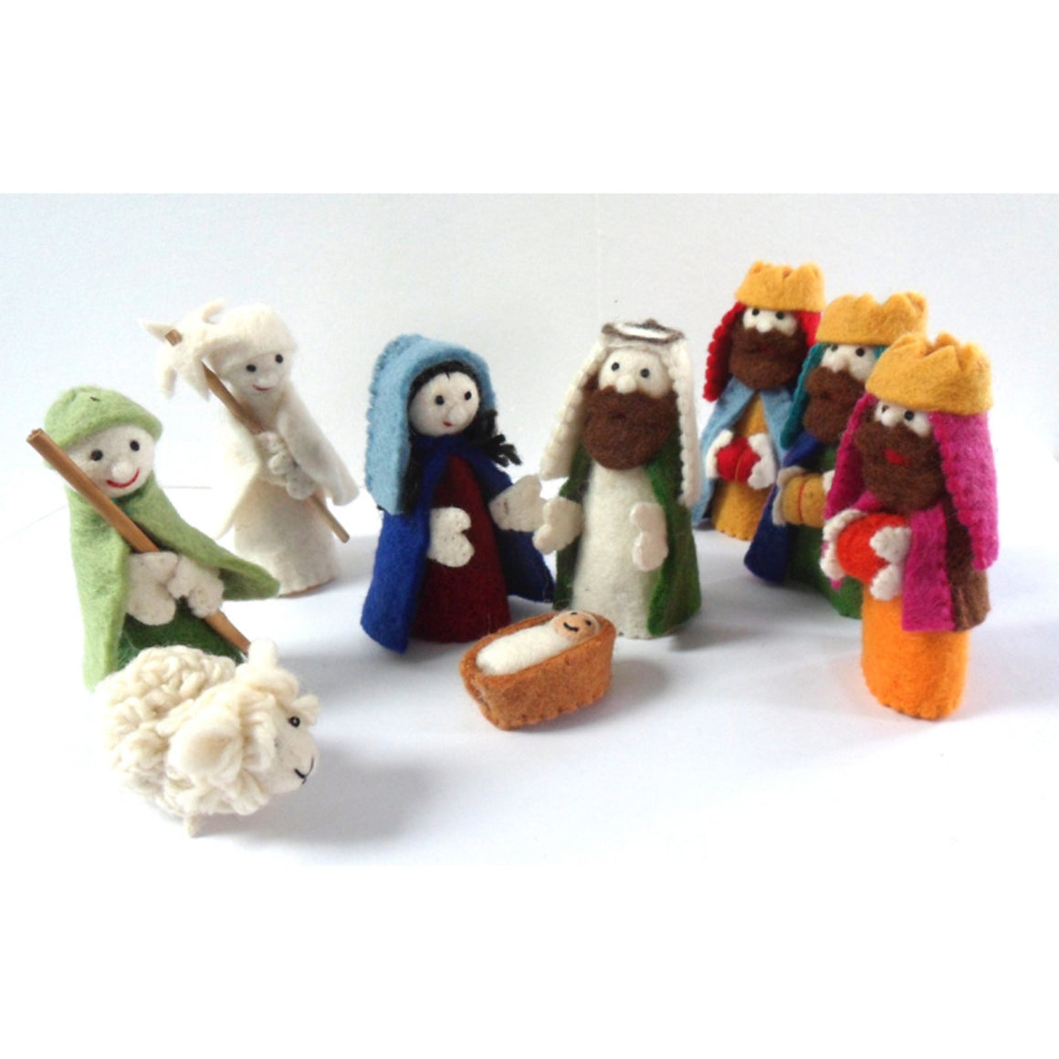 Handmade Felt Colourful Nativity