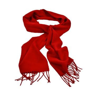 Foxford Scarf Mayo Red