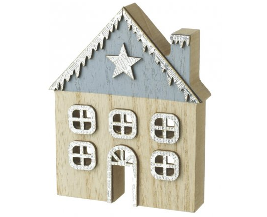 Medium Wooden Christmas House