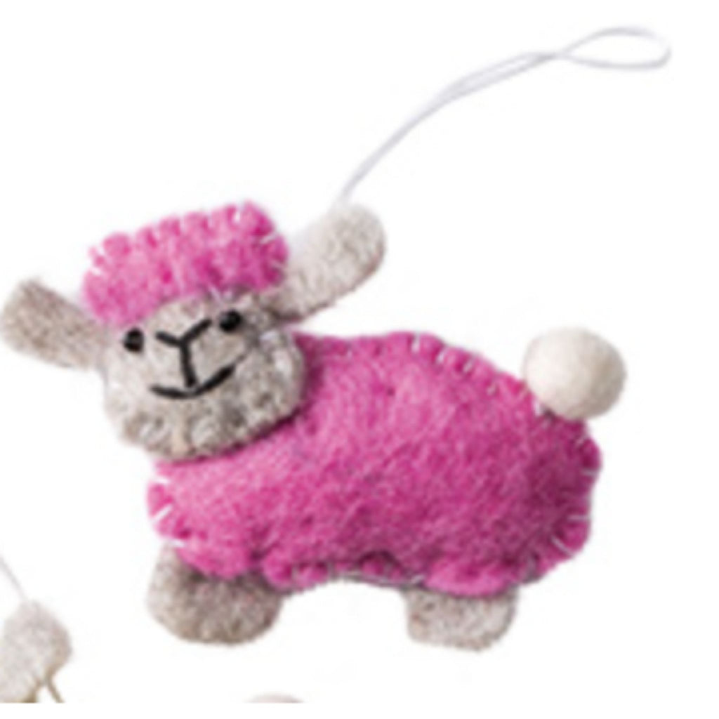 Handmade Felt Sheep Decoration