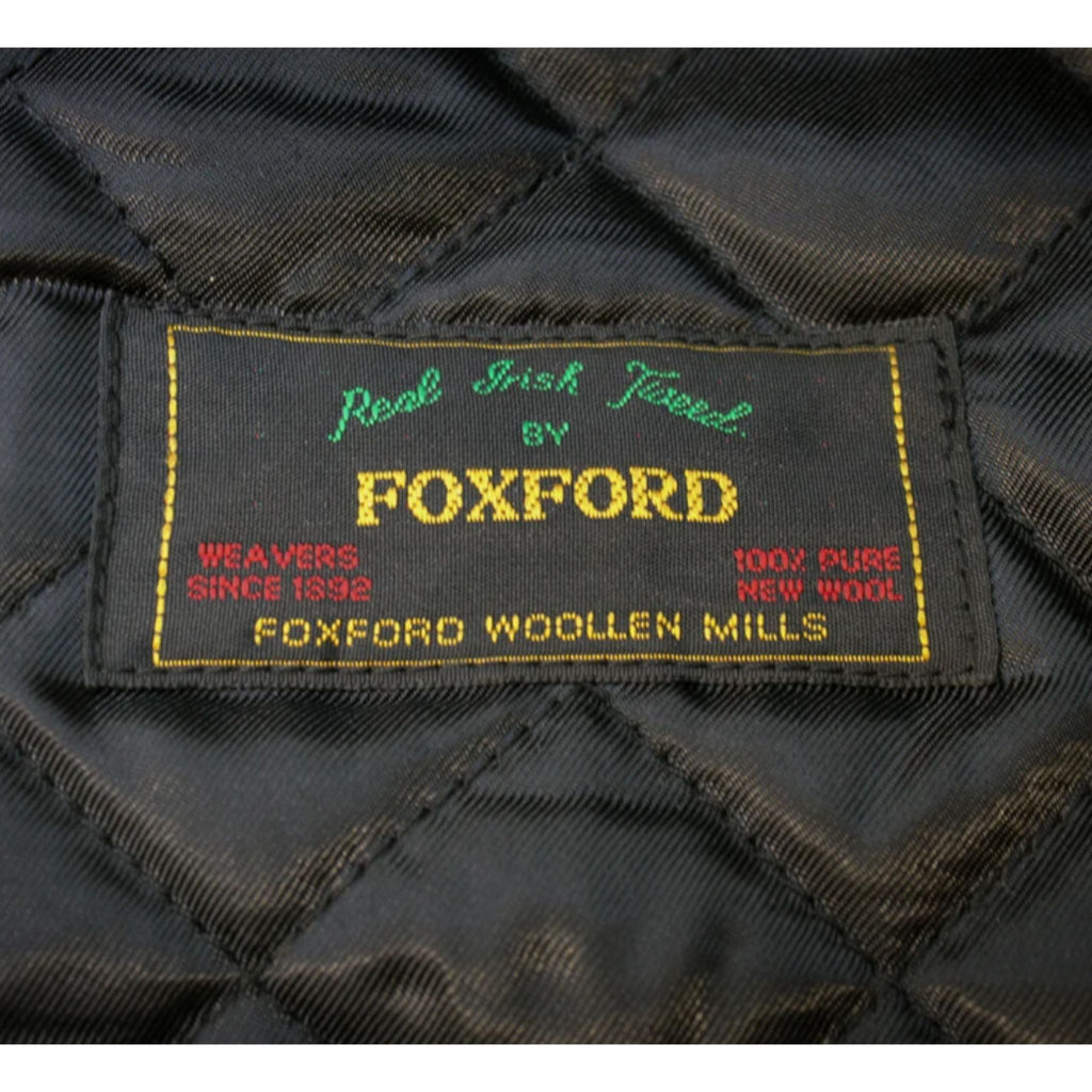 Foxford Bone and Black Herringbone Tweed Cap