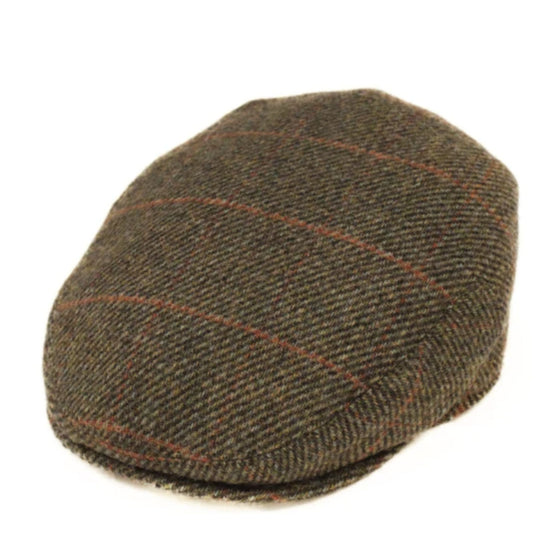 Foxford Brown and Red Tweed Cap