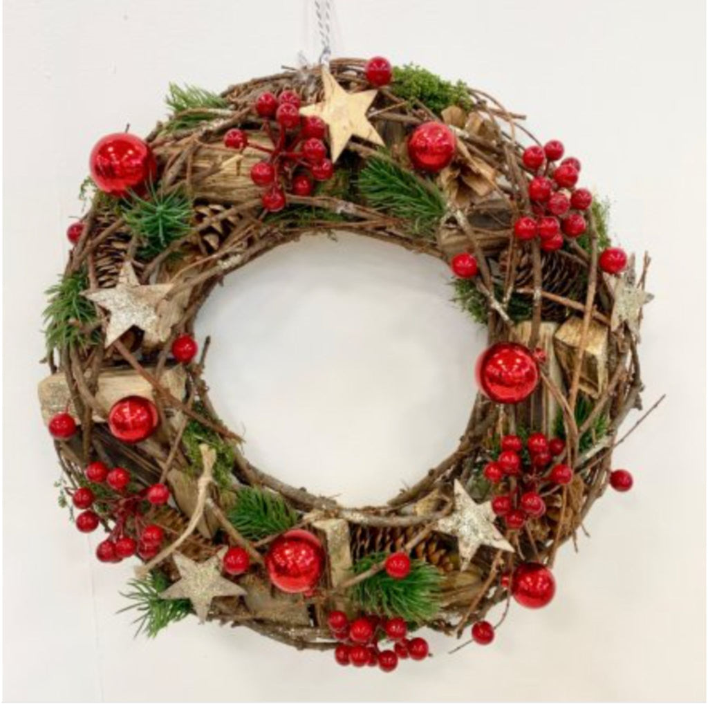 Woodland Foliage and Berry Wreath