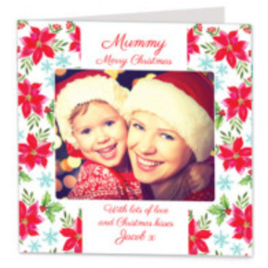 Personalised Fabric Christmas Card with Photo