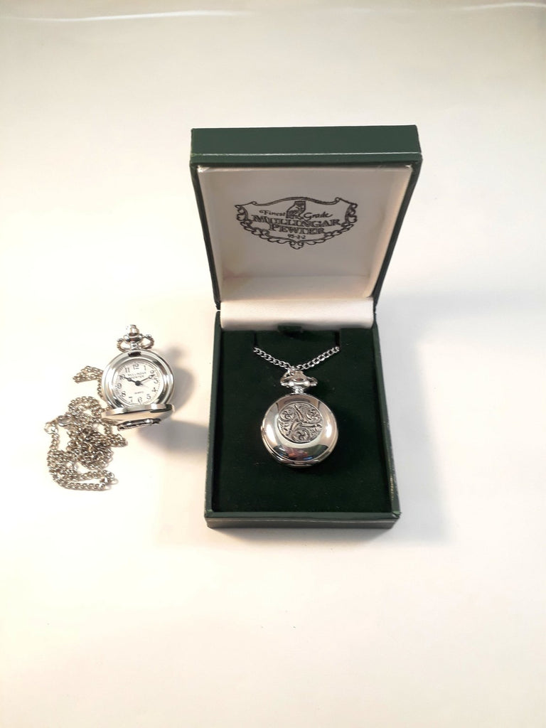 Ladies Pewter Pendant Watch