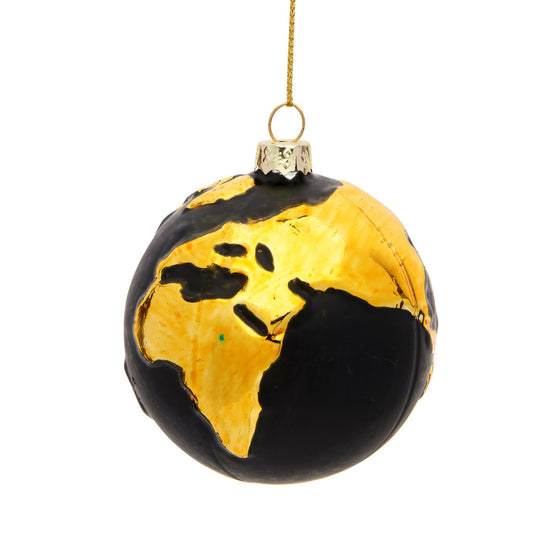 Gold Planet Earth Bauble