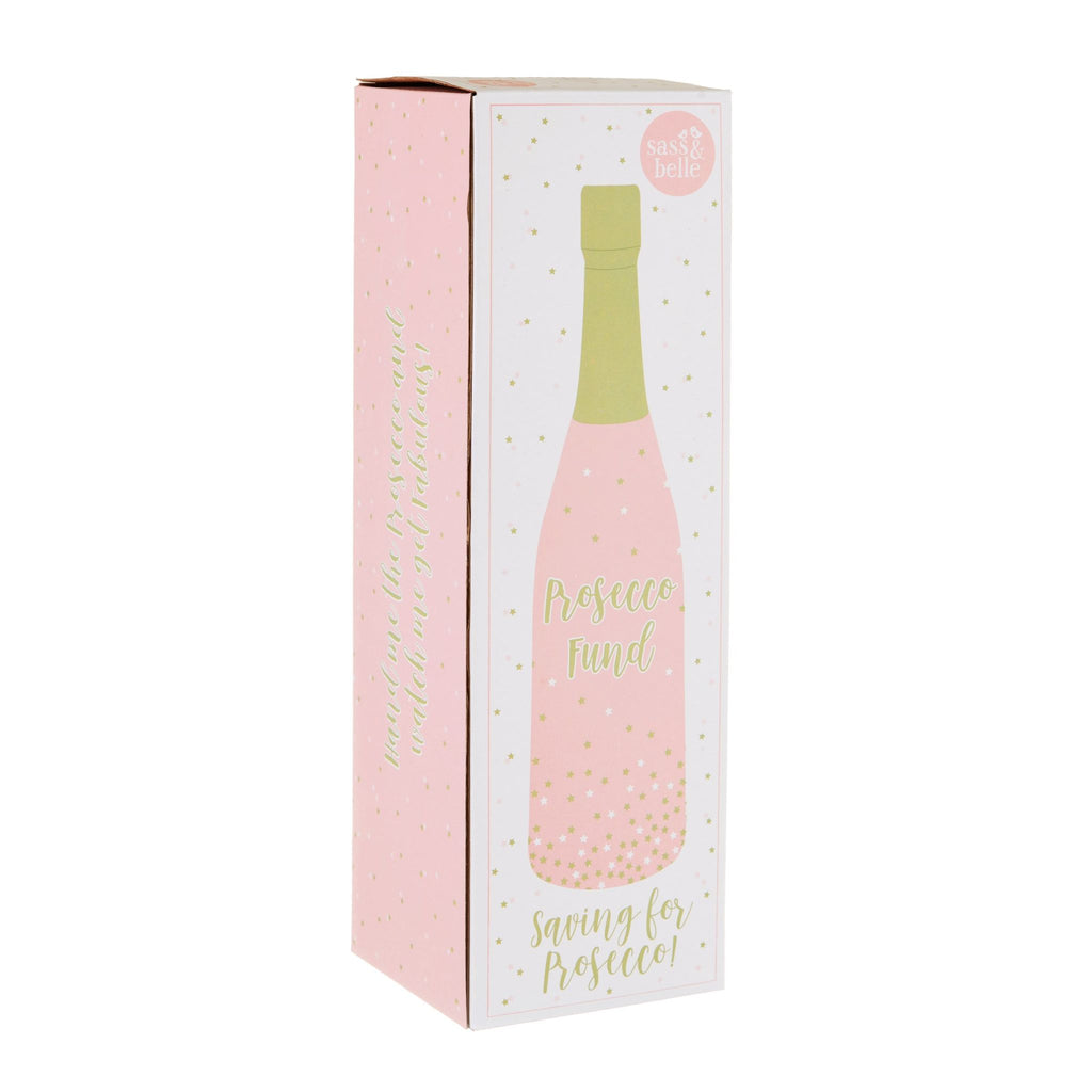 Prosecco Fund Bottle Money Bank