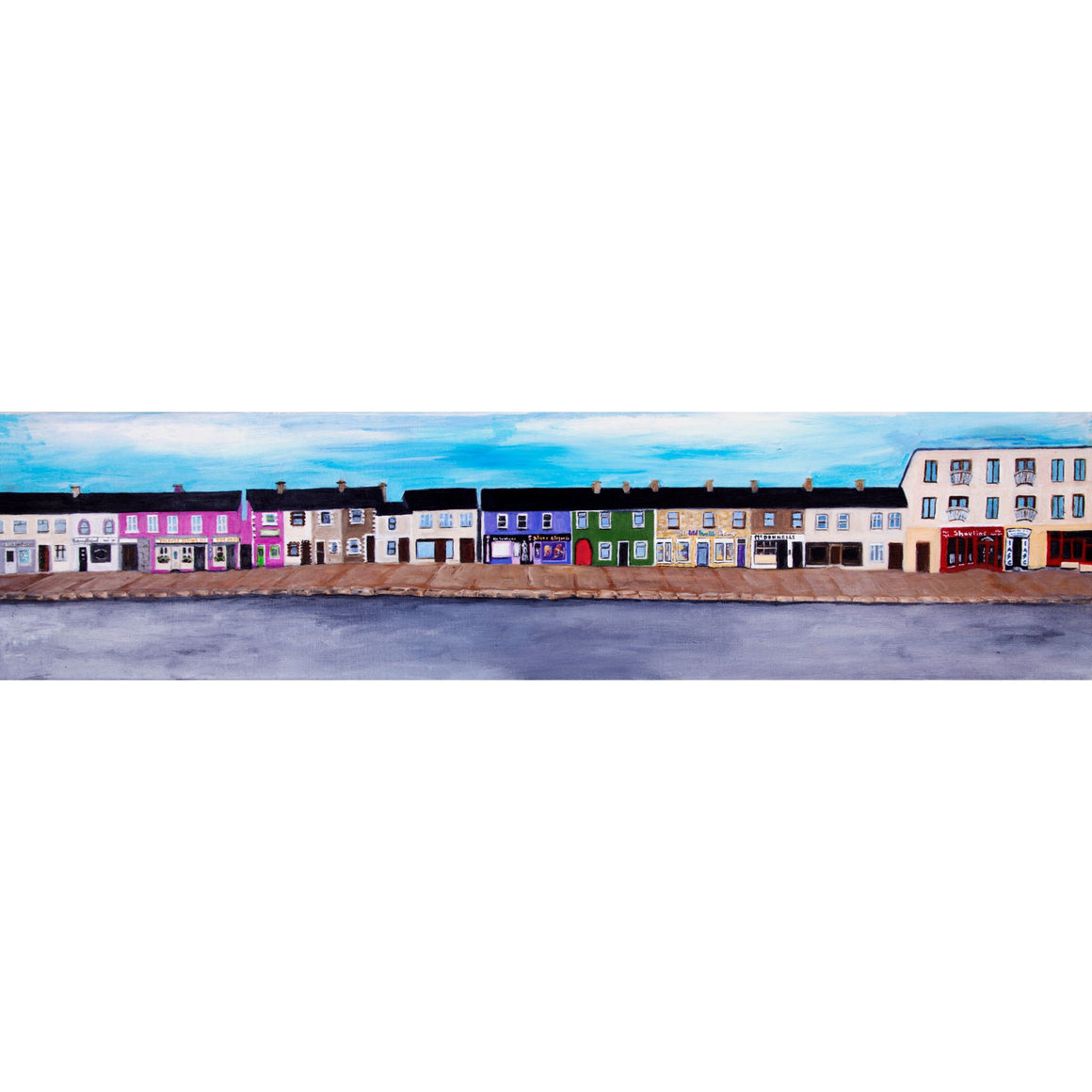 Barrack Street Belmullet 18 x 6 ins canvas print