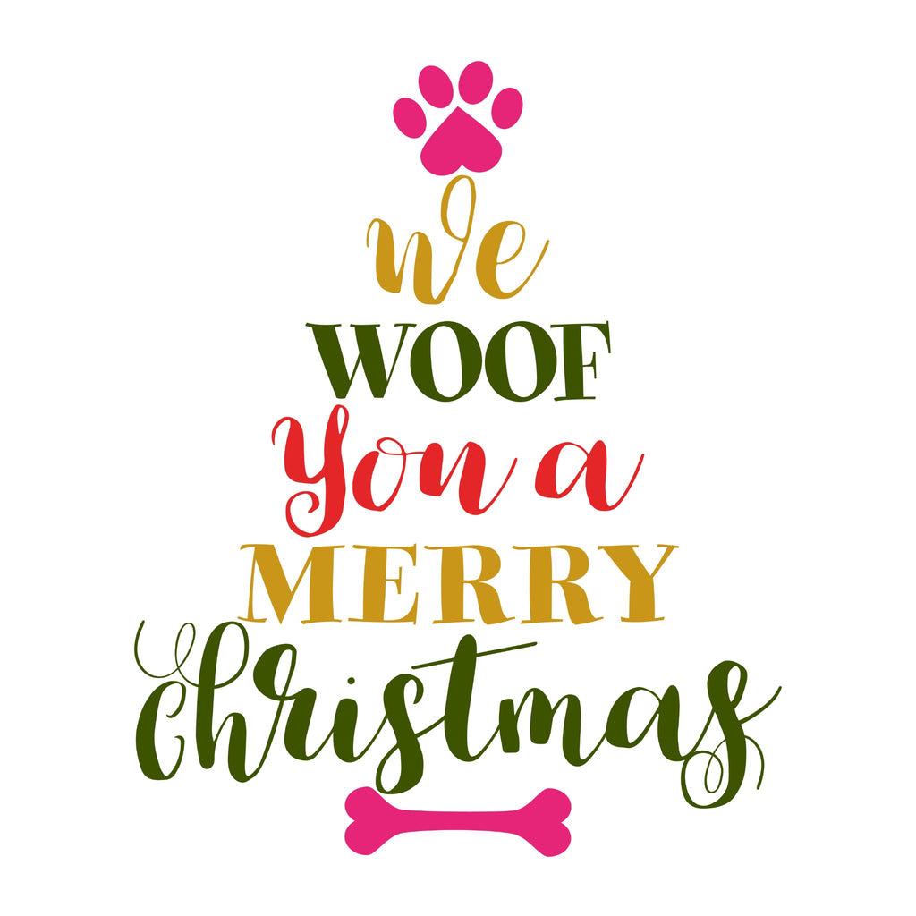 Woof Christmas Card