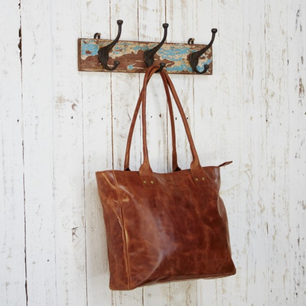 Handmade Fair Trade Large Leather Handbag