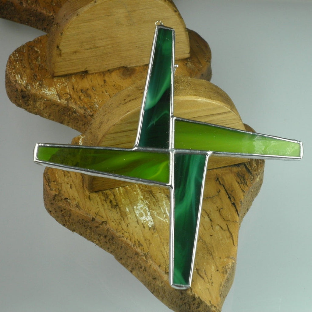 St Brigid's Cross Stained Glass Suncathcher