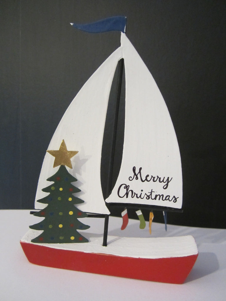 Merry Christmas Sailboat