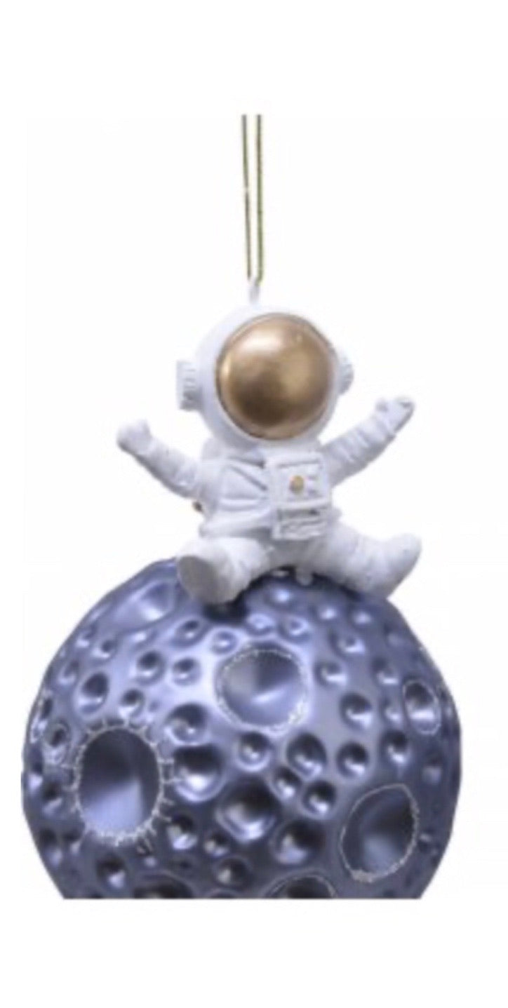 Glass Meteor and Astronaut Bauble