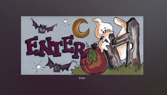 Halloween Enter Sign