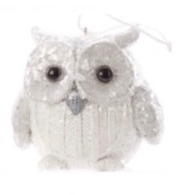 White Knitted Owl
