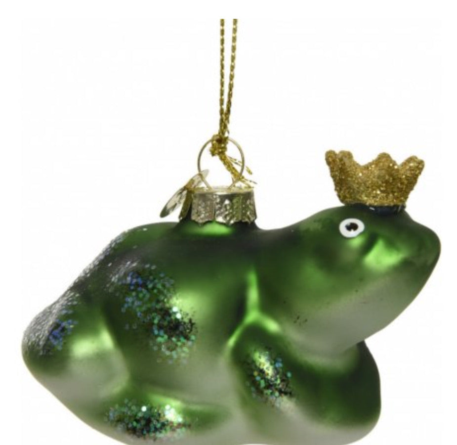 Glass Frog Prince Bauble