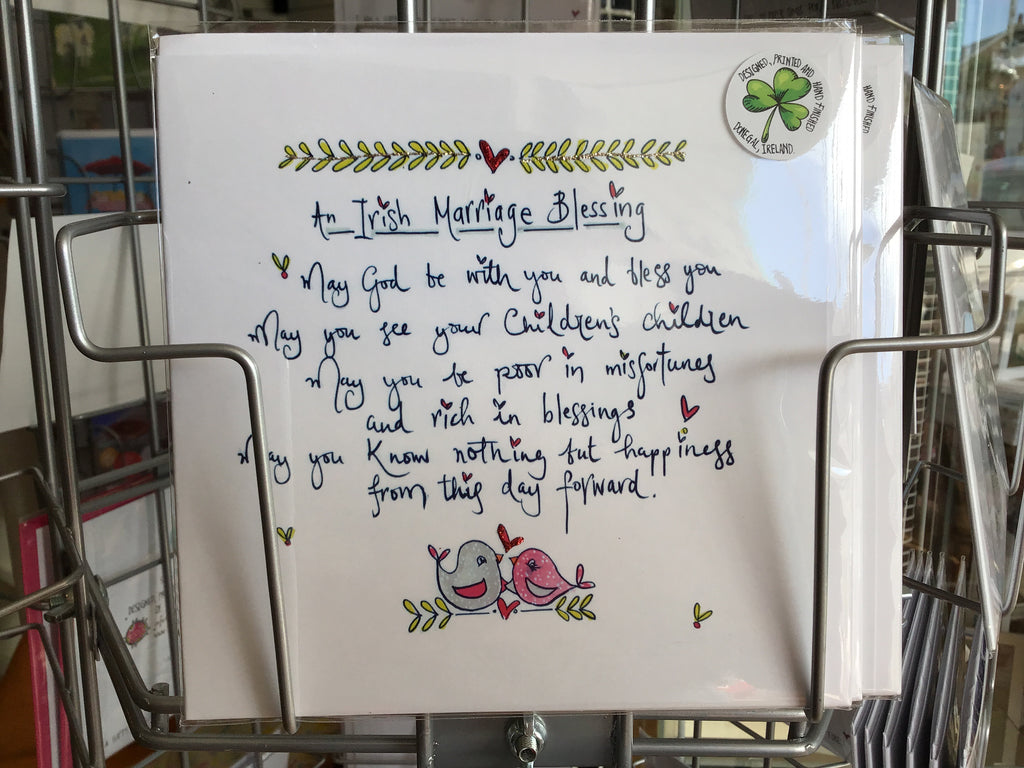 Irish Marriage Blessing Hand Finished Card
