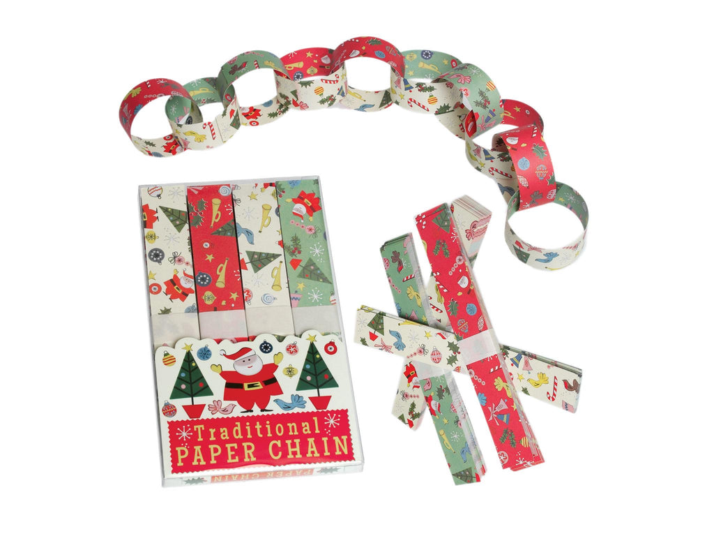 Traditional Paper Chain Christmas Decoration